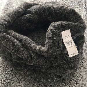 Faux Fur Infinity scarf Never worn from the Loft